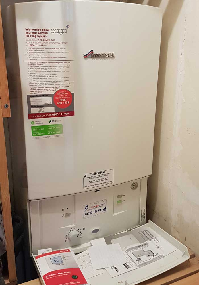 Worcester combi boiler installed for free